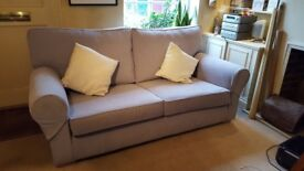 Multiyork Large Imogen Sofa in Beautiful Mystic Grey Still Under Warranty Excellent As New Condition