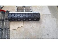 Hex roller for safety flooring