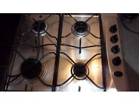 Gas Hob Whirlpool 4 Burner with electronic ignition-full working order-in good condition