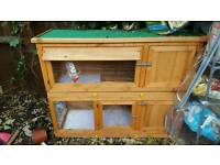Nearly new double hutch for sale
