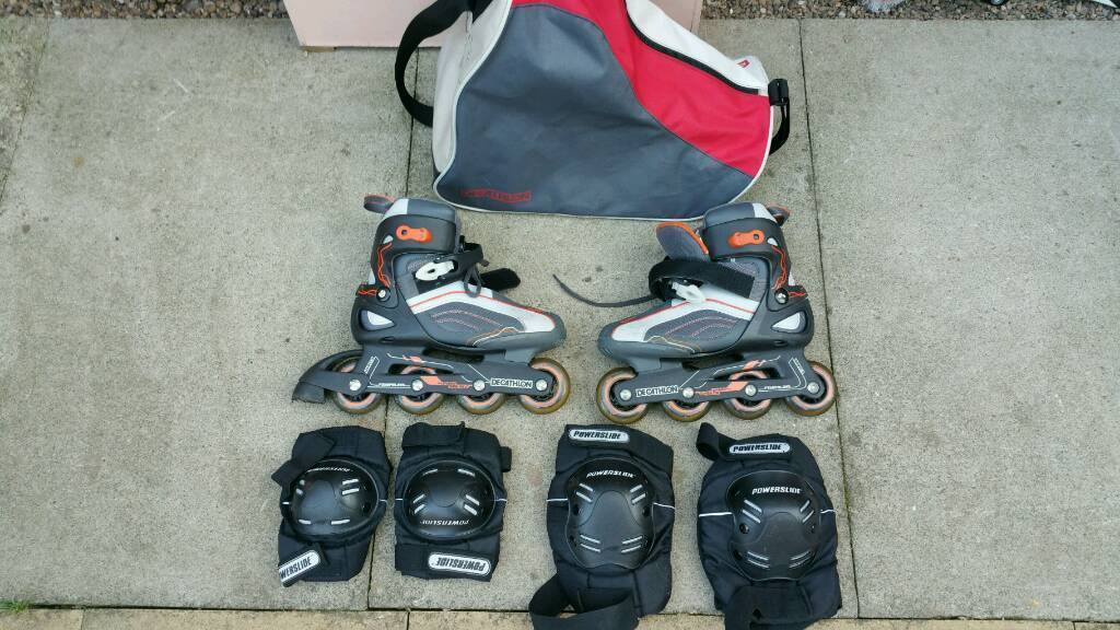 Decathlon inline skates with bag and protectors!can deliver or post!