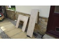 Marble fireplace with surrounding and gas fire excellent condition marble £0 free