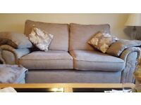 2 x Fabric sofas for sale in excellent condition - Beige/Neutral Colour