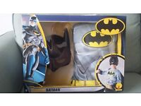 Brand new Rubies Batman Costume / outfit with mask and cape superhero fancy dress world book week