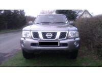 Nissan Patrol Aventura 57 plate, 3.0di, manual, 7 seater