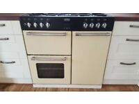 Belling Country Range Dual Fuel Cooker 90 DFT - Bargain £375 (Cream) - COLLECTION ONLY