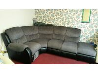 Corner sofa with recliner immaculate condition Quick sale 250 pounds.