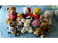 Large bundle of soft plush toys
