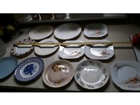 Random collection of 12 plates