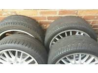 BMW MV1 GENUINE M SPORT STAGGERED ALLOY WHEELS WITH GOOD TYRES