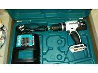 Makita 18v combi drill body only with 18v charger and case