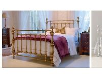 King size so to bed brass bed with mattress
