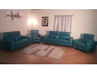 Madison avenue turquoise recliner 3+2 seater sofas and 2 recliner armchairs
