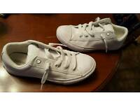 Ladies leather Converse size 3