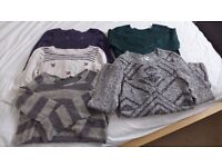 Maternity Jumpers and Jumper Dresses Size 8 / Size 10 Bundle
