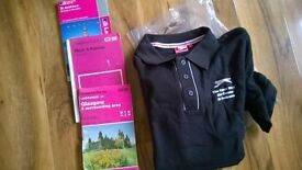Bundle lot camping hiking ordnance survey maps national cycle network book solar water shower £5