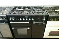 Range master kitchener 90cm dual fuel range cooker.