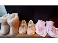 Baby girl's shoes-n-boots (age0-12months)