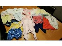 Large bundle of Newborn baby girl clothes