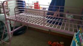 Pink Midsleeper bed (with mattress if required)