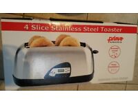 Prima 4 slice toaster, unopened