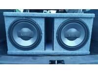 Infinity double subwoofer JBL amp car audio sub