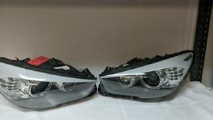 BMW 5 SERIES GT FRONT HEADLIGHTS LEFT AND RIGHT SIDE SHELL ONLY 2011-2015