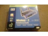 LINKSYS WRT54G 2.4 GHz Wireless-G Broadband Router