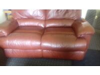 Leather sofas, 2 and 3 seater, recliners ex Harveys