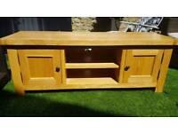 Solid Oak Large TV Cabinet