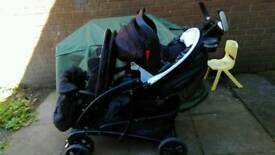 Gracco quattro duo stroller with car seat