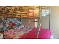 Triple bunk bed excellent condition with mattress QUICK SALE