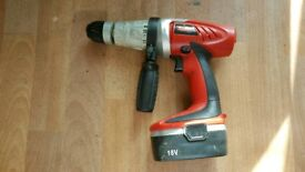 Xtreme 18v hammer drill in good working order