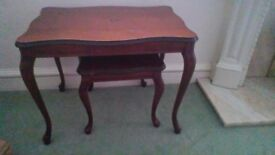 Mahogncy Queen Anne Coffee Table Vintage