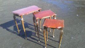 Very elegant vintage nest of three tables