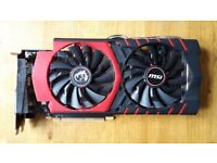 MSI GTX 970 GAMING 4G OC graphics card (4GB) - factory overclocked - excellent condition