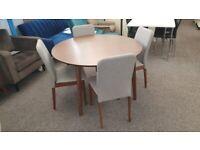 Julian Bowen Farringdon Table & 4 Berkeley Chairs Can Deliver
