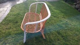 Cane settee, 2 seater