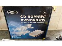 External cd/dvd writer/rewriter in case
