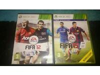 FIFA 15 and FIFA 12 games for Xbox 360