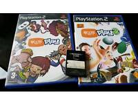 Playstation 2 eye toy 1 & 2 plus memory card