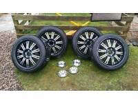 """18"""" wolfrace alloy wheels"""
