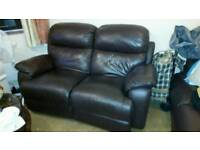 2 seater leather recliners