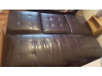 Leather sofabed comfortsble