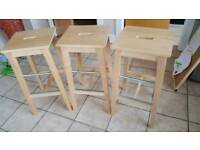 Wooden stool (3 for sale)