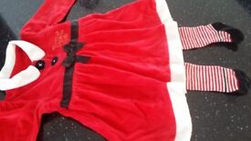 Girls Santa Outfit 3-6 months