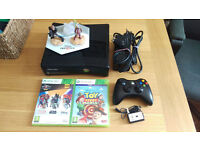 XBox 360 S Console with controller, Disney Infinity 3.0 game with characters and Toy Story Mania