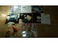 14 x peter gabriel vinyl LP''s / 12 inch / 7 inch