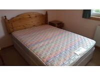 Double Divan Bed with Silentnight Mattress - Headboard not included
