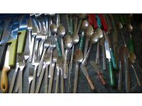 over 70 pieces cutlery silverware £5 for job lot bundle